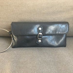 Victoria Secret Buckle Clutch w/Silver Ring Handle